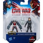 Marvel The Avengers Captain America, Team VS Team Figure, Ant man VS Winter Soldier , 6 cm