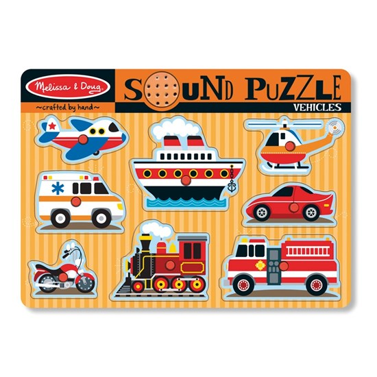Melissa & Doug Sound Puzzle, Vehicles