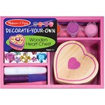 Melissa & Doug Decorate your own, Wooden Heart Chest