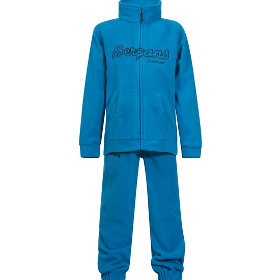 Bergans Fleecesett, Kids, Light Sea Blue