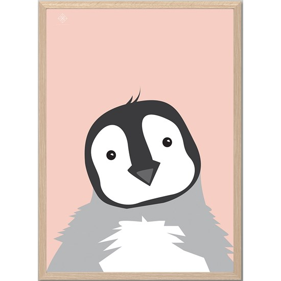 Sne Design Poster, The chubby penguin, Peach