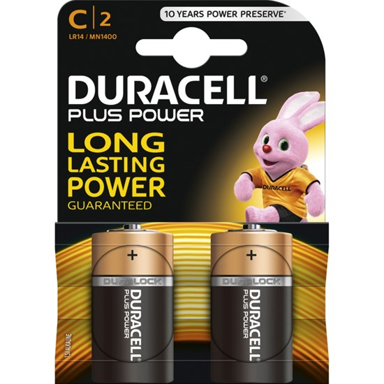 Duracell Duracell Plus Power C 2pk