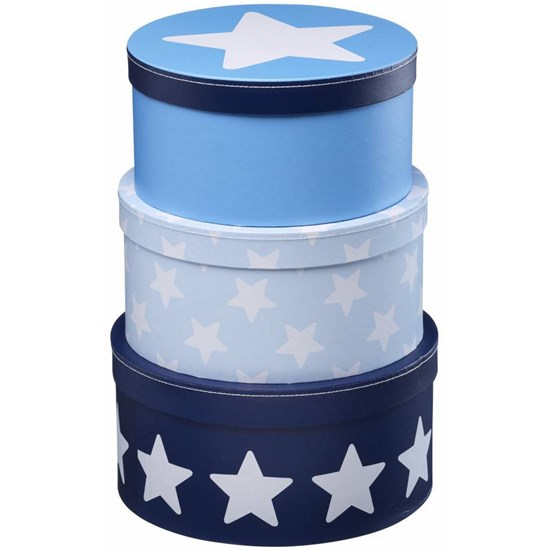 Kid's Concept Boxes Round Star Blue