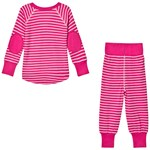Geggamoja Bamboo Two-Piece Pyjamas Cerise/Mint