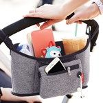 Skip Hop Grab & Go Barnvogn Organizer, Heather Grey