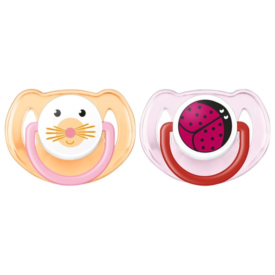 Philips Avent 2-Pack Animal-smokker 6-18M Rosa