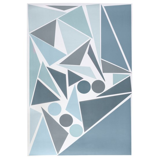 sebra Wallsticker Geometric Bird Blue