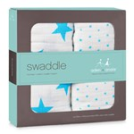 Aden + Anais 2-Pack Fluro Blue Star Swaddles