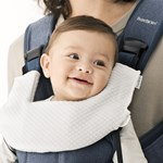 BabyBjörn Teething Bib for Baby Carrier One 1-pack Tencel White