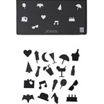 Design Letters Party Icons for oppslagstavle 20-pack