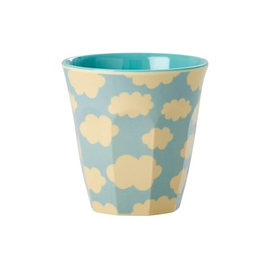 Rice Kids Small Melamine Cup with Cloud Print
