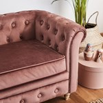 Kids Concept Chesterfield Sofa Fløyel Aprikos