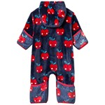 Hatley Navy with Red Smiling Apples Fuzzy Fleece One-Piece