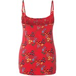 Frugi All Over Floral Singlet Rød