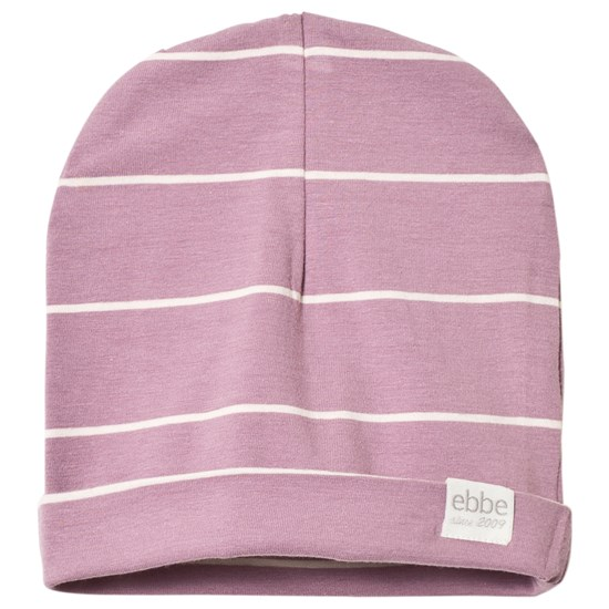 ebbe Kids Andie Beanie Dusky Orchid og Offwhite
