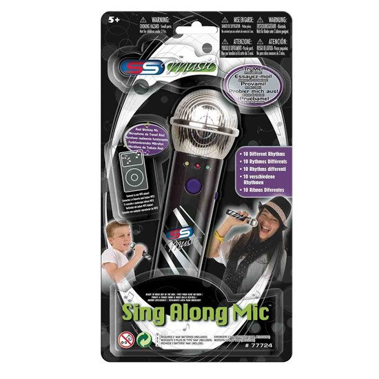 Supersonic Sing-Along Microphone with MP3 Funktion Svart