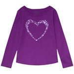 Lands' End Heart Langærmet T-shirt Lilla