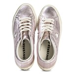 Converse Light Pink Metallic One Star OX Trainers