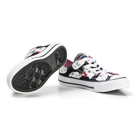 Converse Black Hello Kitty Faces One Star Trainers