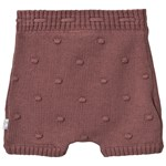 Hust&Claire Harper Strikket Shorts Plum Wine
