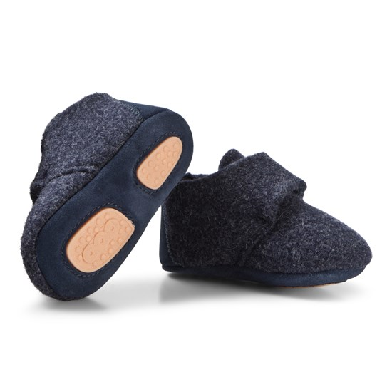 Bisgaard Home Shoe - Wool Star Blue