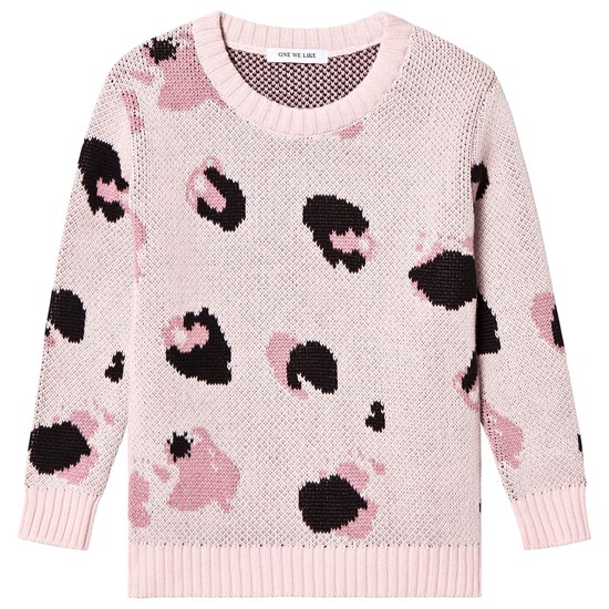One We Like Knitted Sweater Fur Light Pink