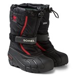 Sorel Vinterstøvler, Flurry, Youth, Black/Red