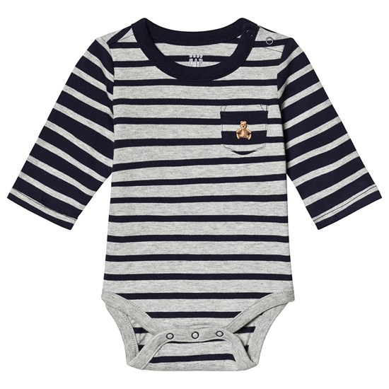 Gap Body for baby i lysegrå Heather
