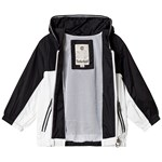 Timberland White And Black Windbreaker With Mesh Lining