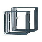 Done by Deer Wire Shelf, Square, 2 Pcs, Dark Blue