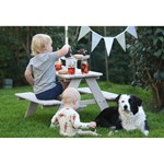 Oliver & Kids Picnic table with parasol White