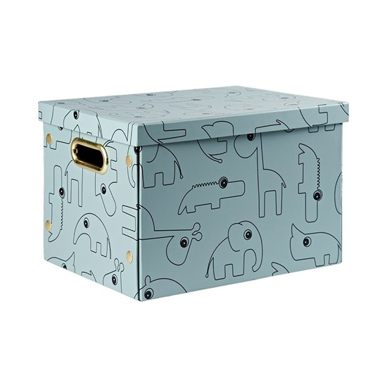 Done by Deer Folding storage box, Contour, blue