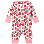Frugi Summer Zip Strawberry Babygrow
