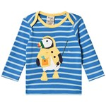 Frugi Blue Bobby Applique Stripe Top