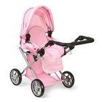 STOY Dolls Pram Combi with Bag Pink