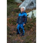 Bergans Ruffen Kids Jkt Navy Athens Blue Fire Red