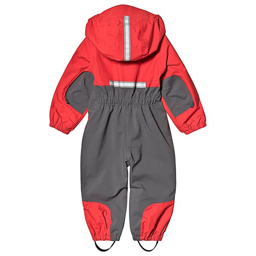 090d040e Bergans Lilletind Kids Coverall Fire Red Solid Dk Grey SolidLightgrey