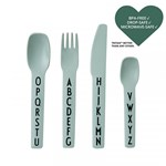 Design Letters Kids cutlery  Tritan green