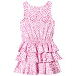 Hatley Pink Mandala Ruffle Dress