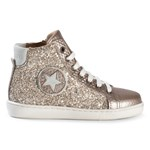 Bisgaard Shoe with laces Gold-Glitter
