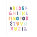 XO Posters Poster Alphabet Multi color