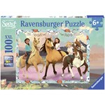 Ravensburger Puzzle, Spirit, Lucky and her friends, 100 pieces