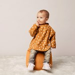 Buddy & Hope Bib w arms 2-p Yellow w Dots