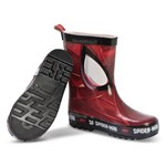 Marvel Spider-Man Spiderman Rain Boots Racing Red, Black