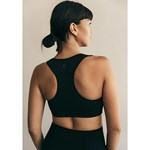 Boob Fast Food Sports Bra Black