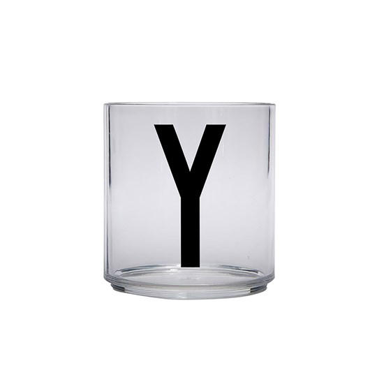 Design Letters Kids Personal Drinking glass Y