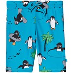 Småfolk Blue Multi Penguin Print Swim Shorts