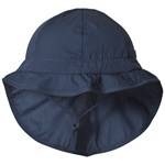 Melton Hat w/neck & bow - Solid col Marine