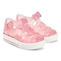 a9db878b Igor Crystal Pink Tennis Jelly Sandals
