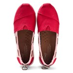 Toms Toms Canvassko, Young, Red Burlap stripe